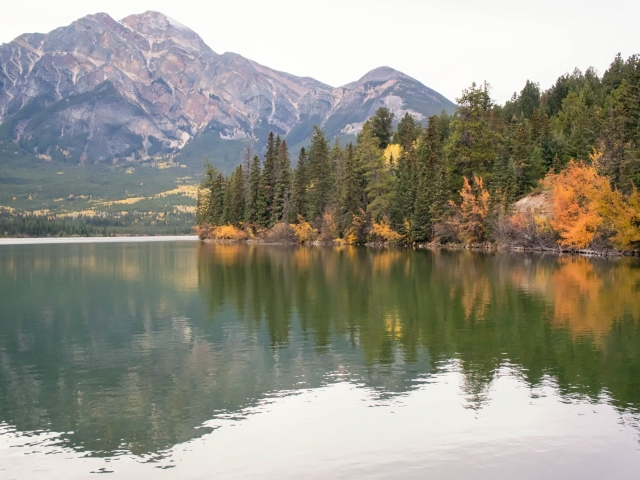 Pyramind Lake - Autumn Reflections