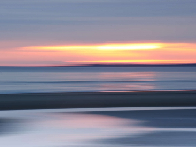 Findhorn Sunrise Horizontal Blur