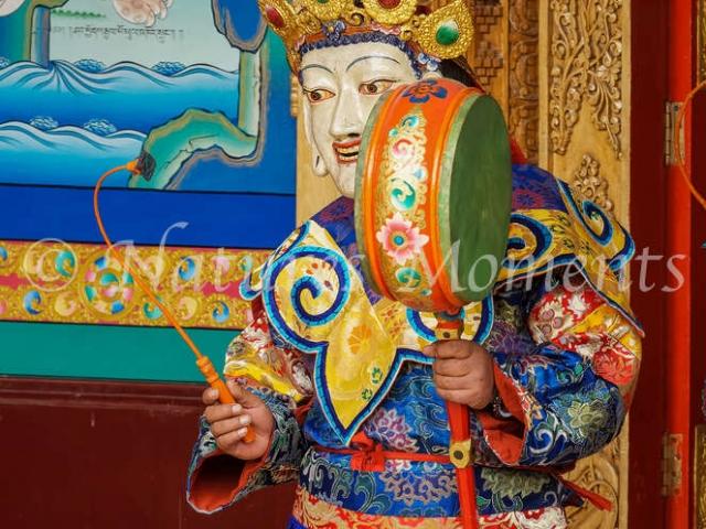 Dancer with Drum, Matho Monastery